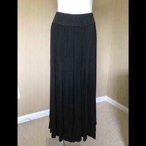 Lapis Black Maxi Skirt